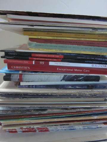 A quantity of auction catalogs, club bulletins, programs and miscellaneous publications