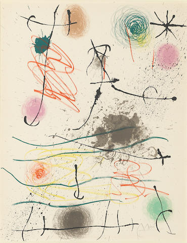 Joan Miro, Untitled, from Quelques fleurs pour les amis;