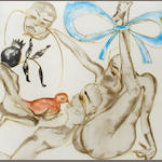 Francesco Clemente, Blue Ribbon, 1994, color aquatint