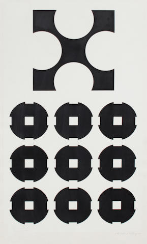 Victor Vasarely (Hungarian, 1906-1997); 7 Plates, from Cinetique and Cinetique III; (7)