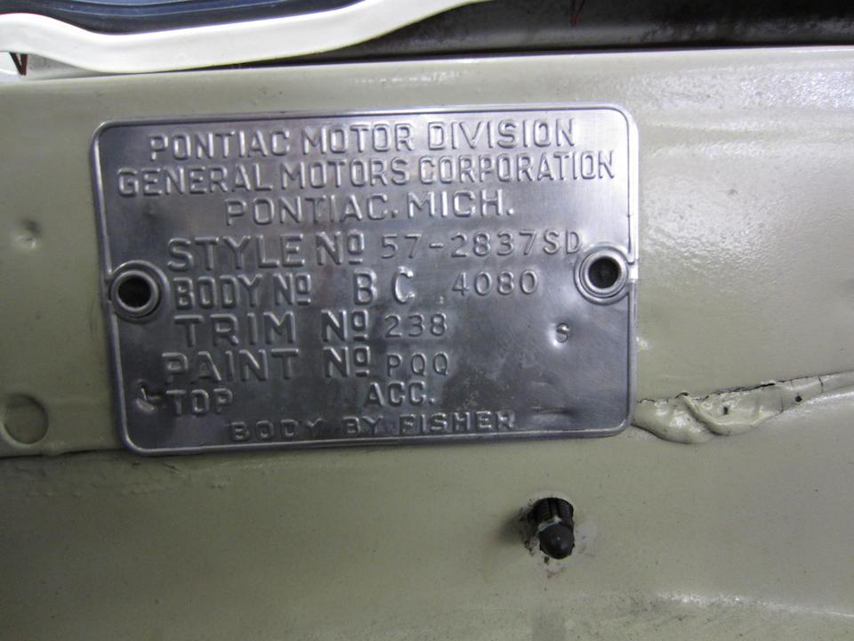 1957  Pontiac Star Chief Two-door Hardtop  Chassis no. C857H9860