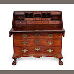 A Chippendale walnut reverse-serpentine slant-lid desk <BR />North shore, Massachusetts<BR />1765-1785