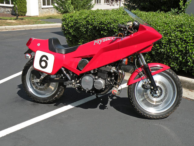 One of 10 built, and one of only two turbos, and 2 miles from new,1980 Kawasaki KZ1000 Turbo Charged Vetter Mystery Ship Frame no. DMV 75988 CA Engine no. KZT00AE083890