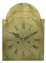 A Chippendale walnut tall-case clock<BR />brass dial engraved Thos Harland/Norwich, Connecticut<BR />late 18th century