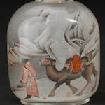 An inside painted glass snuff bottle  Yan Yutian