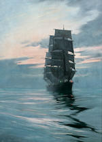 Montague Dawson (British, 1890-1973) Eventide 24 x 18 in. (60.9 x 45.7 cm.)
