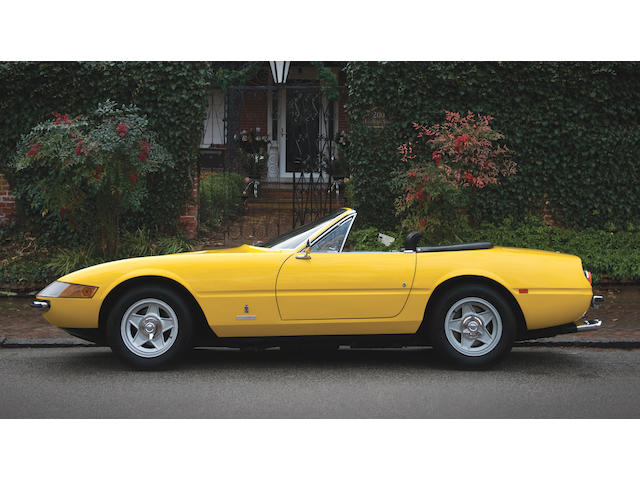 European delivered, original 'Plexi' nose car,1970 Ferrari 365 GTB/4 Daytona Spyder Conversion  Chassis no. 13281
