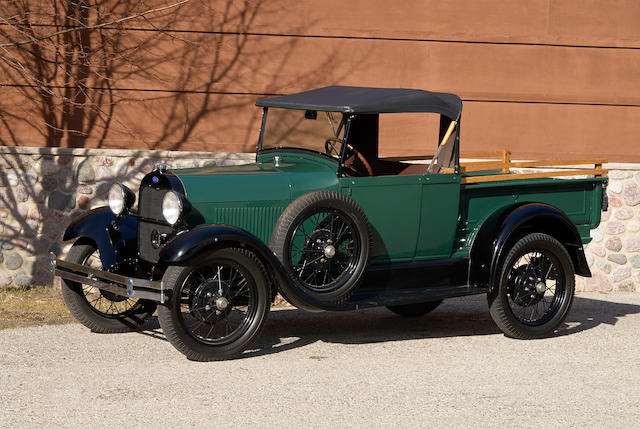 "1928 Ford Model A ""AR"" Type 76A Open Cab Pickup  Engine no. A80155"