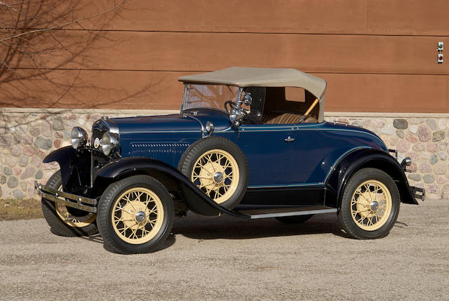 Bonhams 1931 Ford Model A Deluxe Roadster Chassis No Mvin33170ind Engine No A482090