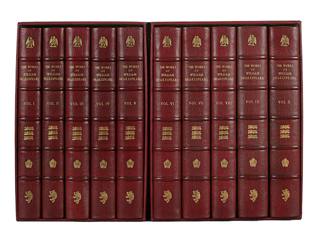 The Works of William Shakespeare, 10 volumes, published by Shakespeare Head Press of Stratford-on-Avon, 1904
