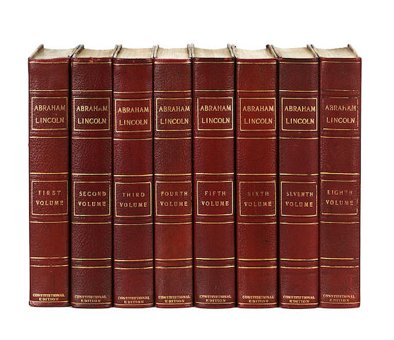 8 volumes of writings by Abraham Lincoln