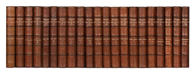 21 volumes of George Eliot, works