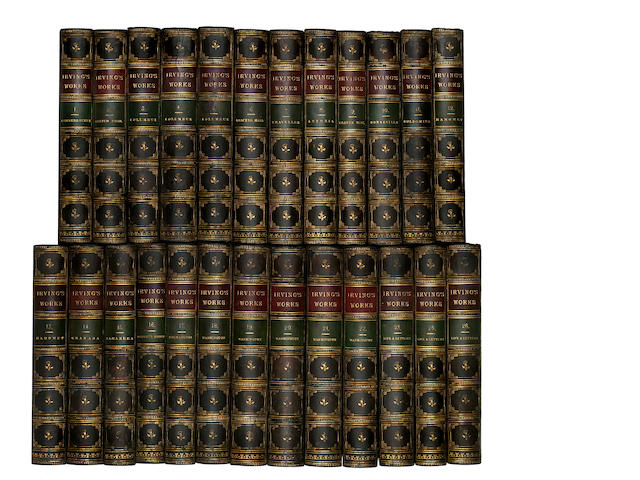 25 volumes of works by Washington Irving