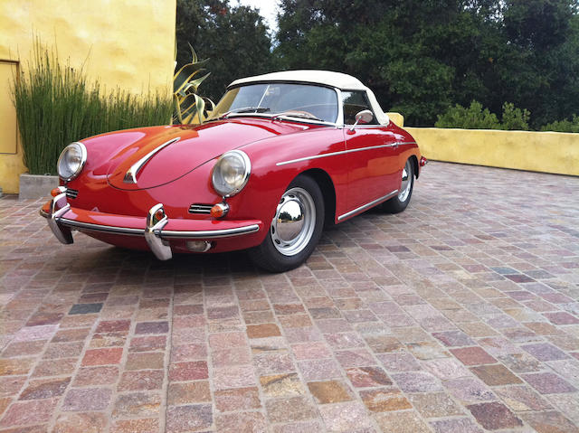 One of 473 D'Ieteren-built T5 Roadsters; documented California ownership from new,1961 Porsche 356B Roadster  Chassis no. 89155 Engine no. 604819