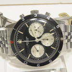 "Breitling. A stainless steel pilots' chronograph wristwatch""Co-Pilot"", Ref:765 CP, Case no. 108935, mid 20th century"