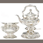 An American  sterling silver  part tea service by Reed & Barton, Taunton, MA, 1930 and 1941