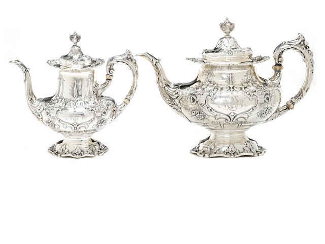 An American  sterling silver  part coffee and tea service by Reed & Barton, Taunton, MA, 1930