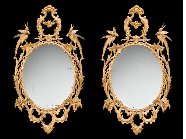 A pair of George III mirrors<BR />third quarter 18th century
