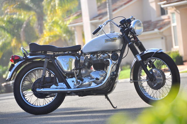 1966 Triumph Bonneville 650 Frame no. DU34919 Engine no. T120RDU34919