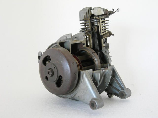 A small cutaway motor wheel.