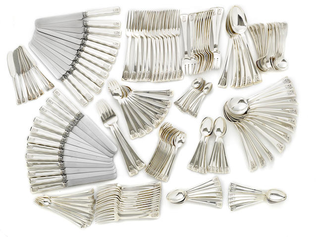 An American sterling silver  flatware service  by Tiffany & Co., New York, NY, second quarter 20th century