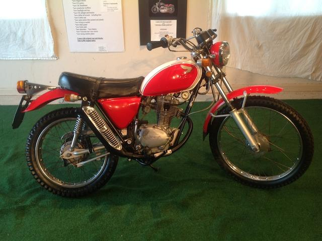 1973 Honda SL125 Frame no. SL125S1128165