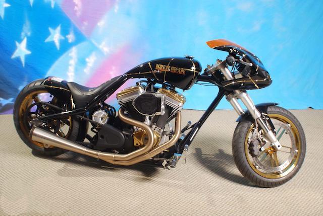 2012 Steve McQueen Tribute Chopper ESCC Custom Bike Frame no. FLA67279