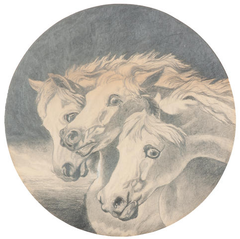 After John Frederick Herring, Snr. Pharaoh's horses diameter 15 1/4in
