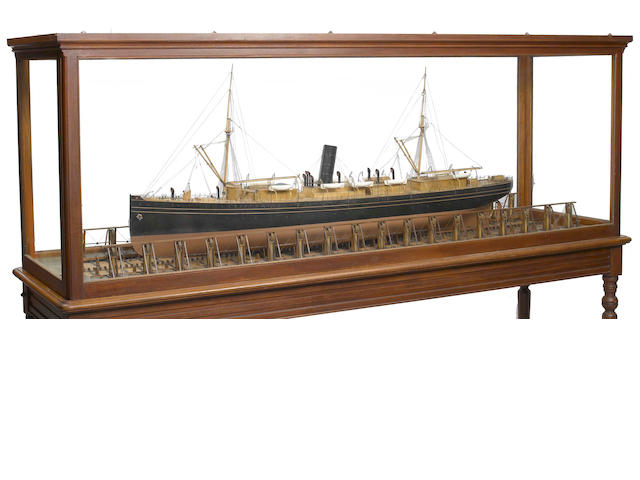 An important American builders' moddel of the S.S. Peru<BR /> circa 1892 89 X 36 in.
