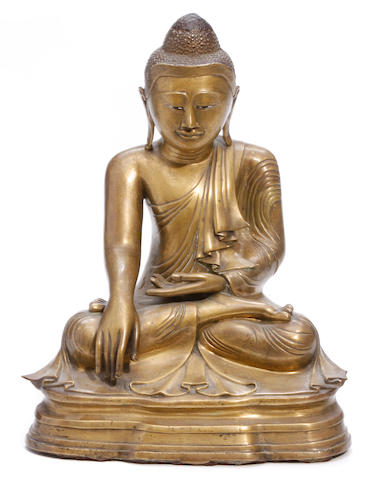 A Thai bronze Buddha