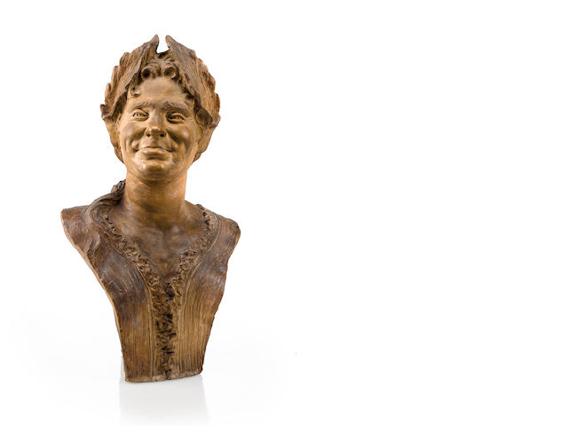 A Continental terracotta bust, 18th century