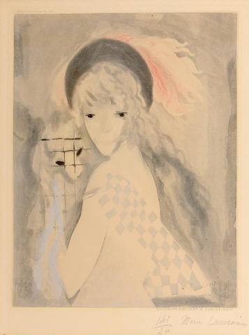 After Marie Laurencin (French, 1883-1956); by Jacques Villon La Femme au Singe;