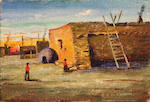 Eldridge Burbank, Zia Indian Village; Holi Indian Store at Polacca; Adobe Ruin, New Mexico; Store, Barn, Sheep Corral and Residence of J.L. Hubbell, Garrudo, Arizona (4)