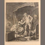 William Hogarth, (2) engravings, 1736;