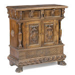An Italian late Renaissance walnut credenza <BR /> late 16th/early 17th century