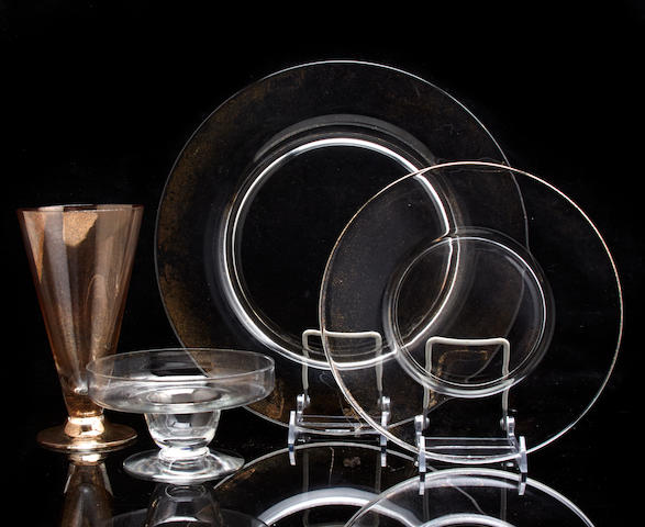 A suite of glassware