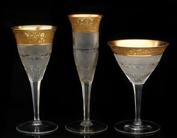 A large suite of Moser cut glass stemware in the 'Splendid' pattern