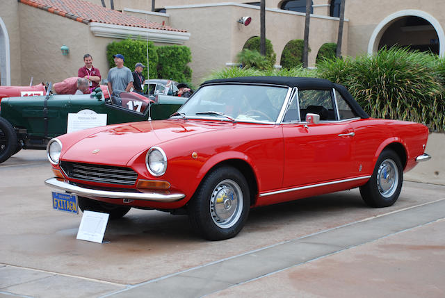 Southern California two-owner car from new,1969 Fiat 124 Sport Spider  Chassis no. 124AS0019657