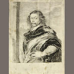 Dutch Scholl, Portrait of a man, signed: HR