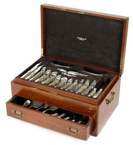 An American  sterling silver  flatware service for twelve  manufactured and retailed by Tiffany & Co., New York, NY,  1905 - 1907