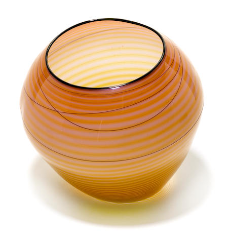 A Dale Chihuly blown glass basket for Portland Press, 1998