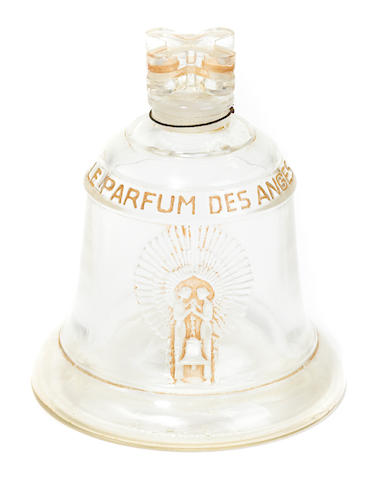R. Lalique perfume bottle c. 1928, created for the opening of the Oviatt Building