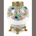 A French gilt bronze mounted Chinese porcelain vase