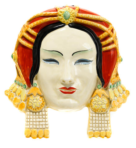 A Clarice Cliff 'Chahar' wall mask