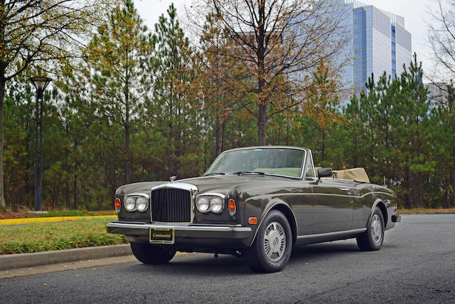 1987 Bentley  Continental Convertible  Chassis no. SCBZD02A5HCX21123 Engine no. 61156L410I8