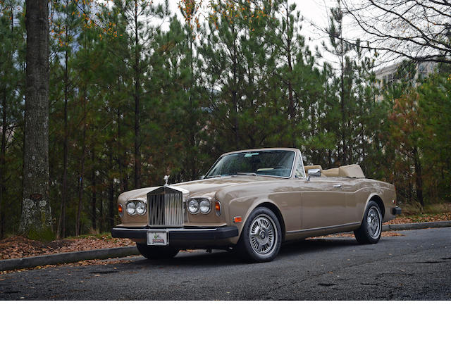 1981 Rolls-Royce Corniche Convertible  Chassis no. SCAYD42A7BCX01681 Engine no. 01681