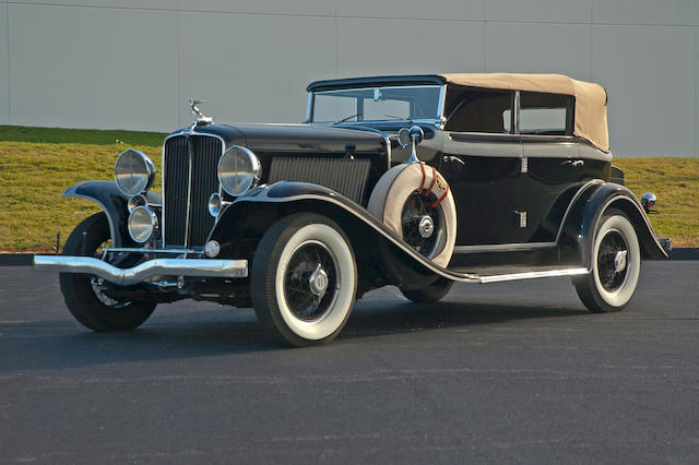 1931 Auburn 8-98A Phaeton Convertible Sedan  Chassis no. 10761 H Engine no. GU 46684