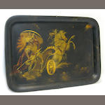 A Continental paint decorated tôle tray first half 19th century