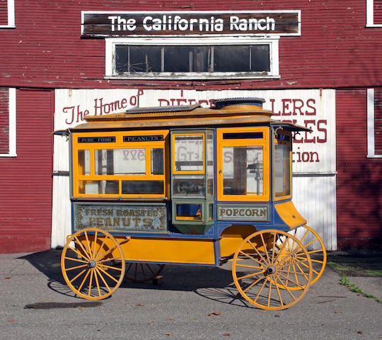 "From the Pierce A. Miller Carriage Collection,Cretors Improved Special Model ""C"" Popcorn and Roasted Peanut Wagon"