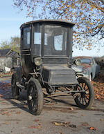 From the Pierce A. Miller Carriage Collection,1910 Detroit Electric Model D Brougham  Chassis no. 1886